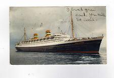 1951 SS NIEUW AMSTERDAM Paquebot CANCEL Southampton HOLLAND AMERICA LINE Ship