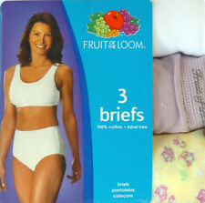 Fruit of the LOOM 3 Pack Assorted Colors Women's Cotton Briefs Size 8XL