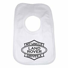 My Uncle Drives a Land Rover Personalised Cotton Baby Bib for Boys & Girls