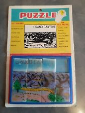 Vintage Collectible Slide Puzzle Grand Canyon on original packaging