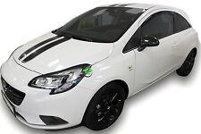VAUXHALL Corsa e 3 ANTE 2015-up Set di Deflettori vento anteriore 2pc HEKO colorata