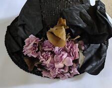 Antique Womens Hat WWI Edwardian Titanic Era Wide Brim With Hat Box