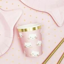 6 Cat Party Cups Baby Shower Neutral Baby Shower Cat Party Decorations New Baby
