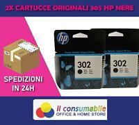 2 CARTUCCE ORIG. HP 302 NERO DESKJET 1110 / 2130 / 3630 OfficeJet 4650