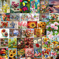 Painting By Numbers Kit DIY Flowers Blooming Hand Painted Canvas Oil Art Picture