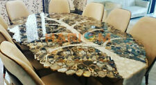 10'x5' Wild & Salt Agate Stone Conference Table Top Handmade Art Decorative A099