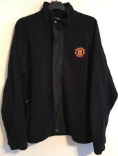 Manchester United fleece track top jacket size XXL black colour