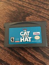The Cat In The Hat Nintendo Gameboy Advance GBA Game Cart