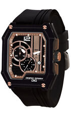 Jorg Gray JG7100-21 Mens Watch Rose Gold And Black Dial Chronograph Rectangular