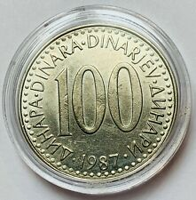 YUGOSLAVIA SFR JUGOSLAVIJA 100 DINARA 1987 CIRCULATED COIN