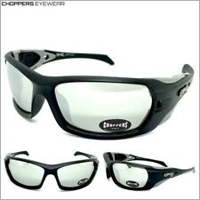 Men MOTORCYCLE Riding CHOPPERS SUN GLASSES Protective Eyewear Shatter Proof Lens