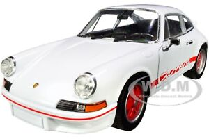 "PORSCHE 911 CARRERA RS 2.7 WHITE ""NEX MODELS"" 1/24 DIECAST MODEL CAR WELLY 24086"