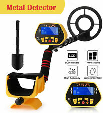 8 in Deep Metal Detector Gold Finder Lcd Display with Waterproof Search Coil Usa