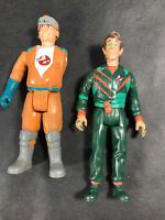 """80's Real Ghostbusters 5"""" Peter Venkman & Ray Stantz Action Figure Loose Kenner"""