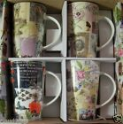 "MAXWELL & WILLIAMS SET OF 4 PORCELAIN MUGS ""VINTAGE COLLAGE"" MINT IN BOX XF143"