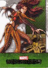 2012 MARVEL BEGINNINGS II 2 ERROR MISCUT CARD #247 LADY DEATHSTRIKE