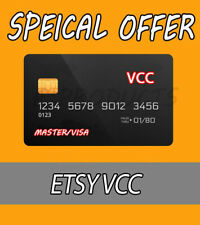 5 VCC Etsy Seller Verification Virtual Card 🔥Fast Delivery🔥