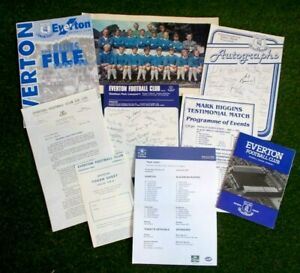 Job Lot Various Everton F.C Ephemera Memorabilia 1962-2007