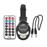 NEW Car MP3 Player Wireless FM Transmitter Modulator USB SD CD MMC Remote XRC