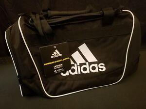 Adidas Defender II Black White Duffel Bag Gym Bag