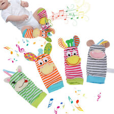 4pcs Soft Wrist Ankle Hand Rattles Bells Musical Instrument Kid Toy Gifts US
