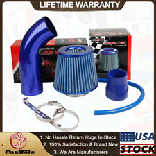 "Air Intake Kits Blue Pipe Diameter 3"" +Cold Air Intake Filter Clamp Accessories"
