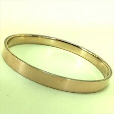 Vintage 9ct Rose Gold Silver Lined Art Deco 1920s Arm Bangle