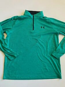 Under Armour Shirt Men's Large Pullover 1/4 Zip Loose
