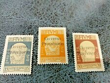 ~ ITALY FIUME  3 STAMPS / SIGNED  HIGH  CAT VALUE / ED 72