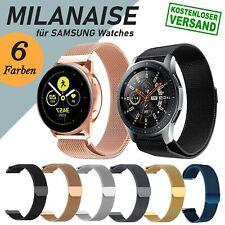 MILANAISE Edelstahl Armband für Samsung Galaxy Watch 42 46 Active 1 2 Gear S2 S3