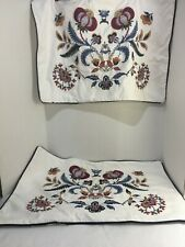 Set of 2 IKEA ALVINE Spetsig Floral Embroidered Scandinavian Pillow Covers