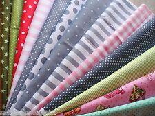 B-Ware 5x Stoffe Stoffpaket Sterne Blumen Baumwolle Stoff Patchwork Quilt Shabby