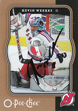 KEVIN WEEKES DEVILS AUTOGRAPH AUTO 07-08 O-PEE-CHEE OPC #300 *25304