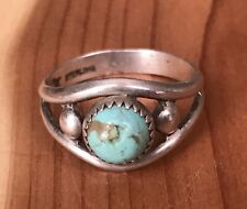 Sterling W/Turquoise Ring Sz 6 Signed Bell Trading Post Native American Navajo