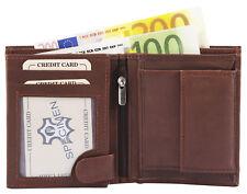 Herren Geldbörse Echtleder Brieftasche Geldtasche Echt Leder Hochformat Braun