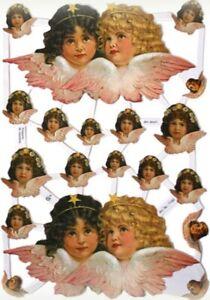 Paper Scrap Reliefs / Glitter/Die Cut/ Lithograph / Vintage Angels