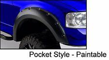 04-08 Ford F-150 Pickup Bolt On Rivet Style Fender Flares Set Smooth Paintable