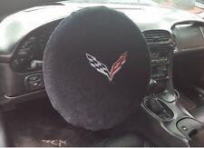 2014-2017 Chevrolet Corvette C7 Black Steering Wheel Cover Armour Protector NEW