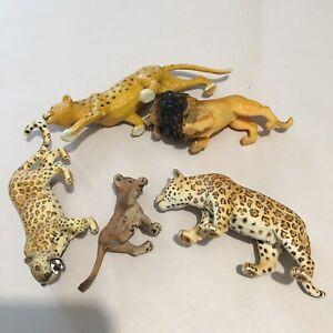 Schleich Tiger Animal Figurines  73527 73527 73527 Cheetah Lion Vintage #5A