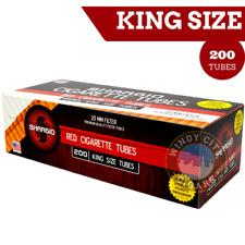 1 Box ( Shargio Red Full Flavor ) Filter Cigarette Tube RYO & bonus case