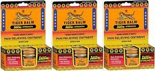 Tiger Balm ULTRA Pain Relieving Ointment 0.63oz (18gm)  x 3 Jars