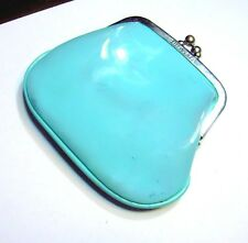 Tiffany & Co. Blue Coin Clutch Blue Clip Top Company Purse Wallet