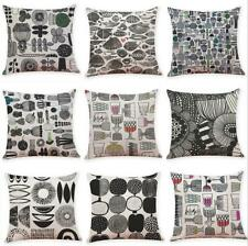 "18"" Vintage geometric print Cotton Linen Pillow Case Cushion Cover Home Decor"