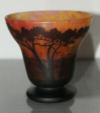 Glas, Vase, Daum Nancy, Frankreich, Jugendstil, Schiffe, Seelandschaft, selten