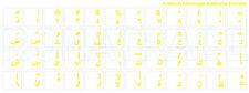 Tastaturaufkleber ARABIC, yellow Writing, transparent Background, matt