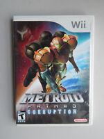 Metroid Prime 3: Corruption Game Complete! Nintendo Wii