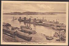 C1915 Vintage Postcard Montreal Harbour & St Helen's Island MONTREAL Canada ISC