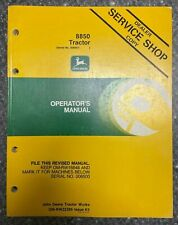 John Deere 8850 Tractor Operator Manual Om Rw22395 K5 Q 5