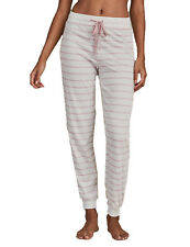 Ex Marks and Spencer Cotton Rich Striped Pyjama Bottoms Size 6 - 8 (P96.8)