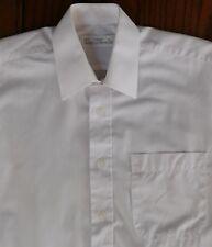 "M&S white short-sleeve shirt Collar size 14.5"" pocket UK made vintage 1990s"
